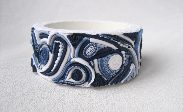 браслеты, синий, джинс