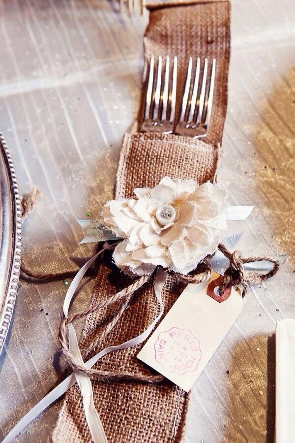 Льняная свадьба. Идеи для вдохновения, фото № 62