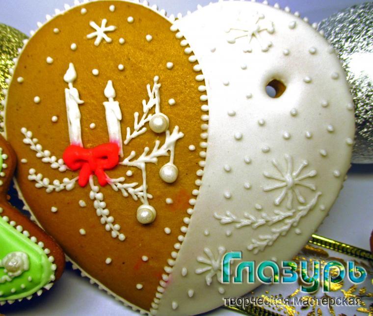 роспись, пряники козули, новый год 2015, подарок на новый год, детское творчество