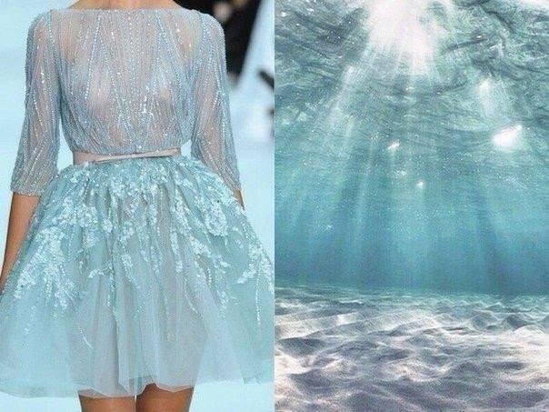 длинное платье, синий