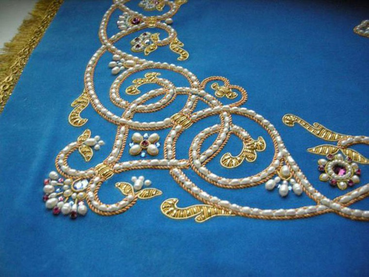Мастер класс вышивки золотом