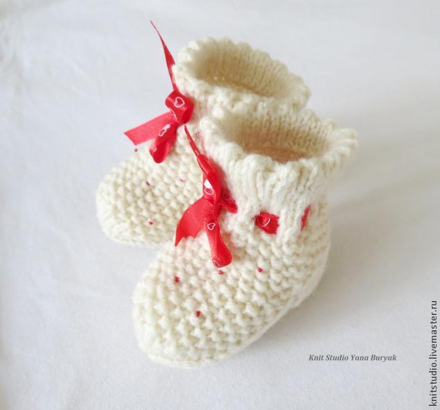 вяжем носочки для новорожденного мастер класс для начинающих и