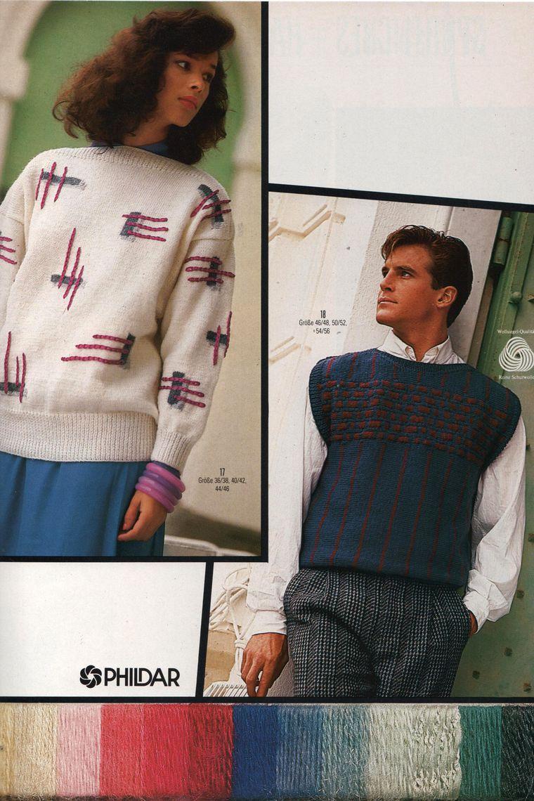 вязание спицами, ретро модели