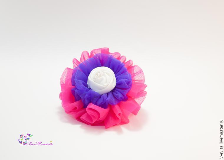 Делаем цветочек — текстильное украшение для волос, фото № 11