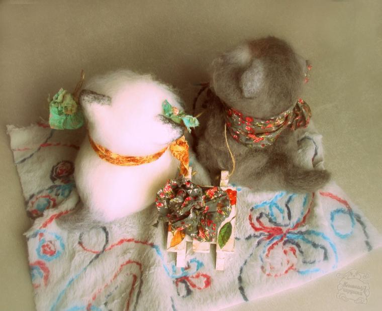 котята из шерсти, выставка, игрушка из шерсти, кошкин дом