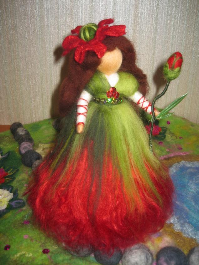 маки, цветок, принцесса, кукла, вальдорфская кукла, новости магазина, красный