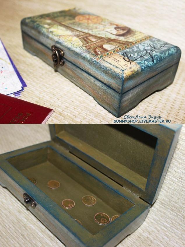 подарок на свадьбу, для денег шкатулка
