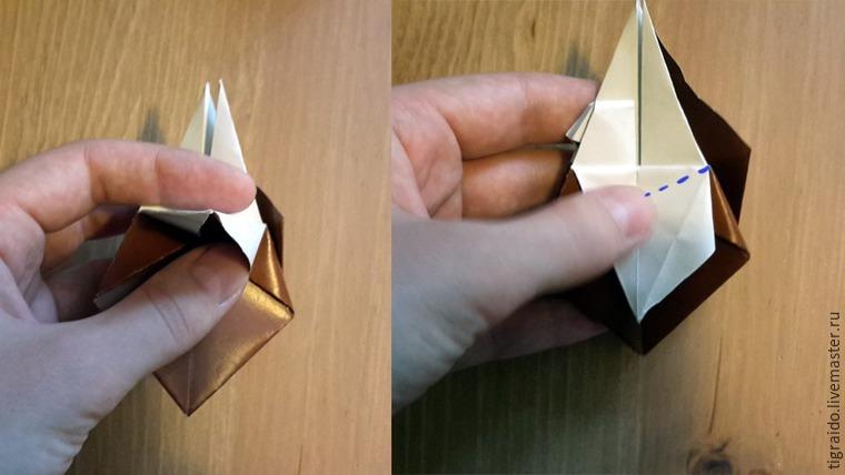 Оригами: пасхальная курочка, фото № 12