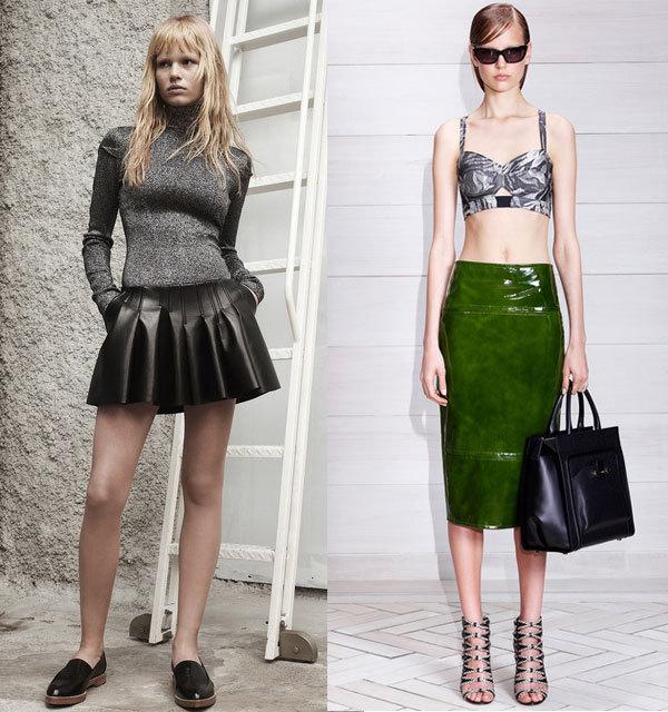 Модные материалы юбок весна-лето 2014