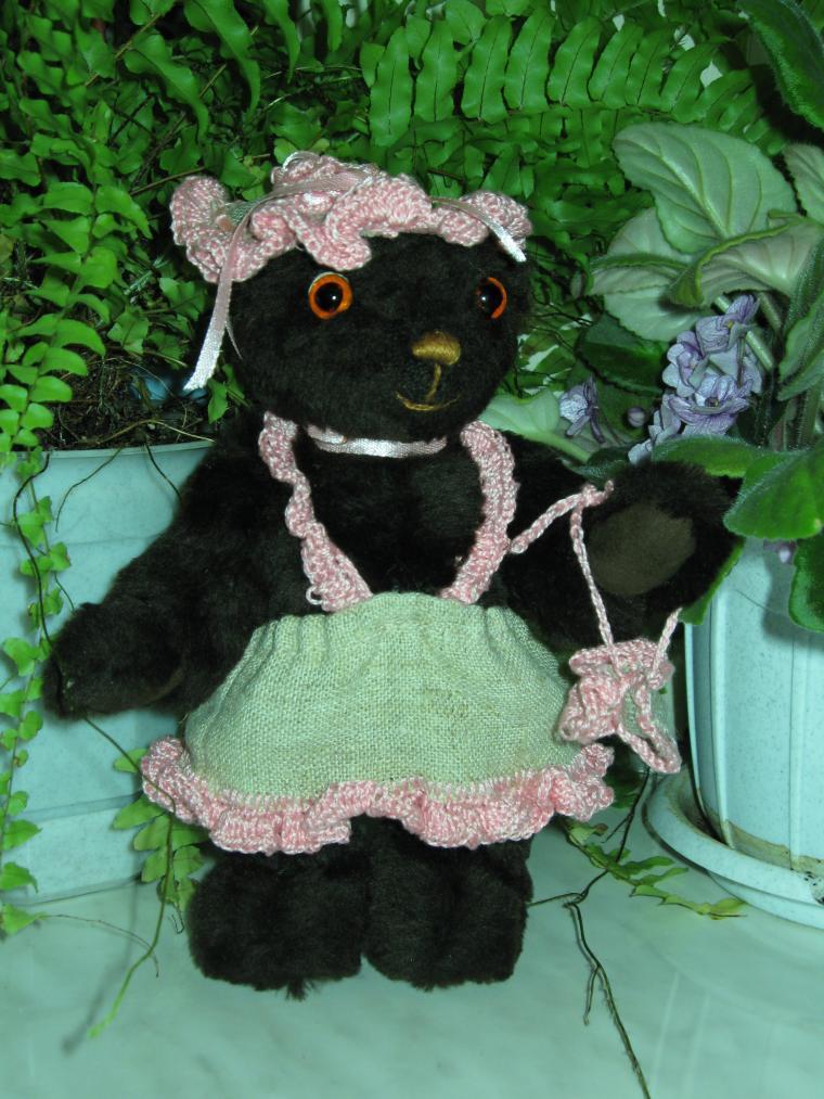 мини мишки тедди, текстиль для кукол