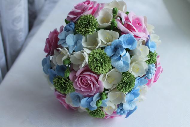 свадебный букет, роза