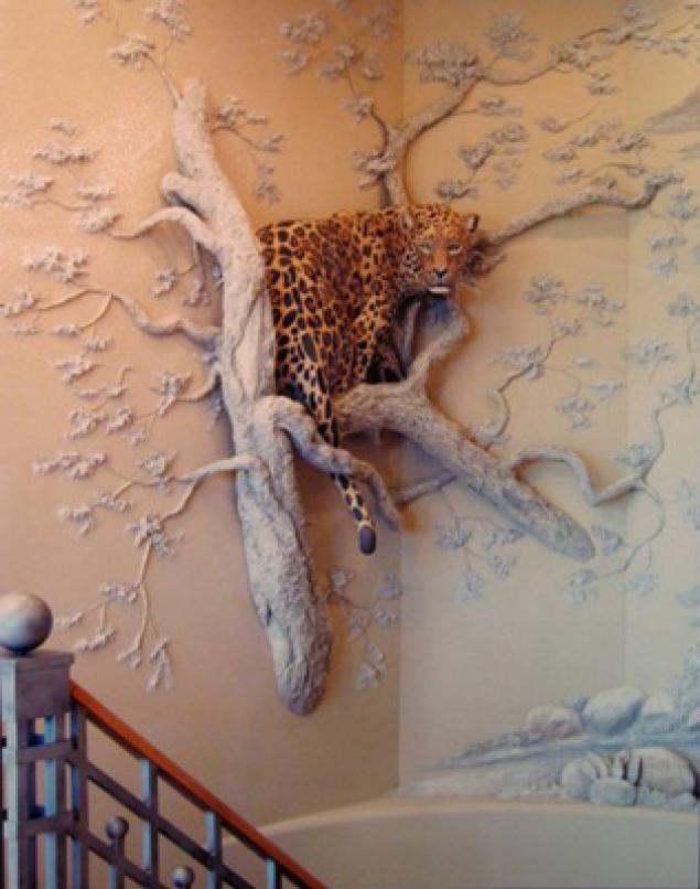 Как сделать на стене дерево из гипса