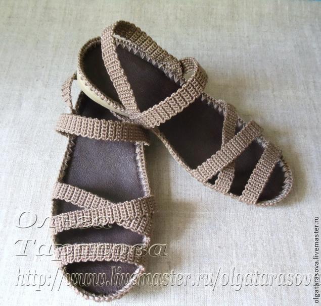Вязаные сандалии схемы