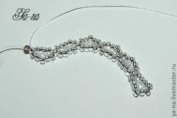 Мастер-класс, плетение воротничка из бисера фото 8.