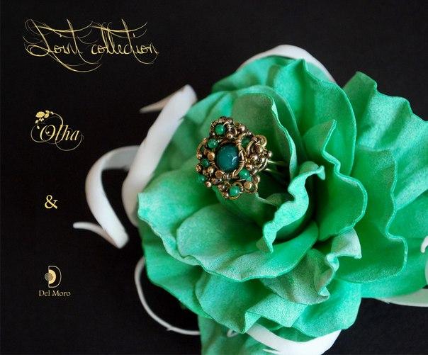 olha, wire wrap, цветочные украшения, бижутерия с цветами в спб, брошь с цветком, цветы из фома, череп