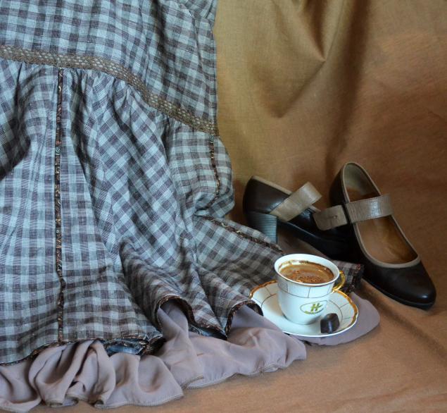 юбка, коричневый