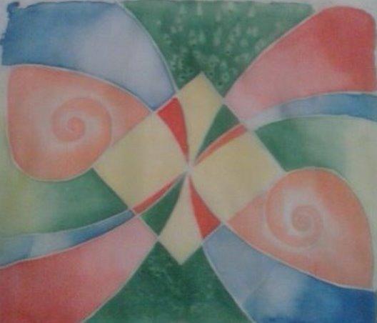 батик, роспись ткани, акриловые краски, первый урок