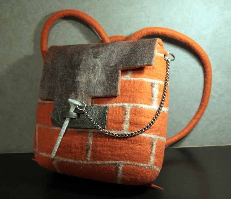 Валяные рюкзаки из шерсти рюкзак городской urban mod1