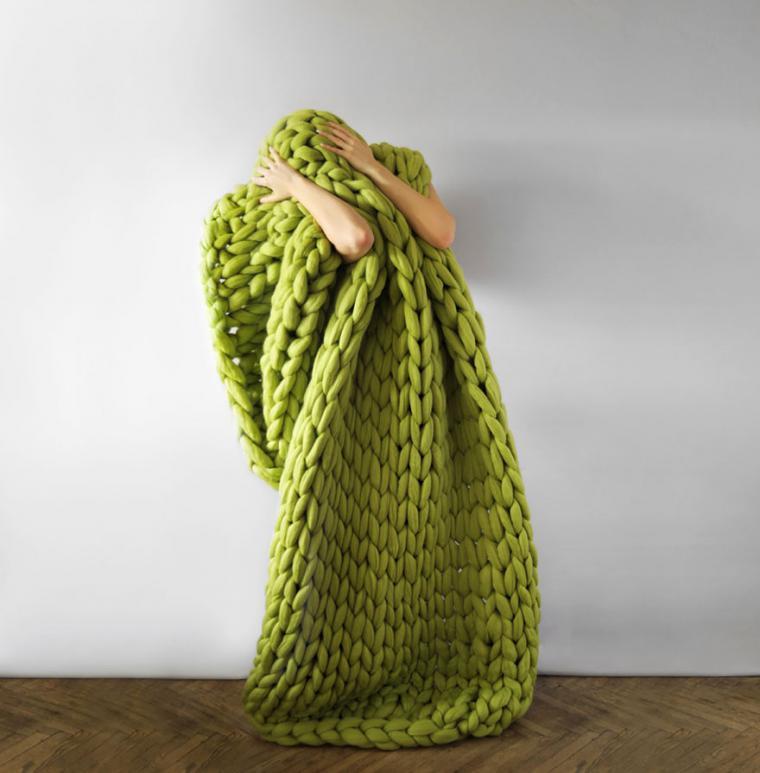 Самая толстая пряжа для вязания руками 23