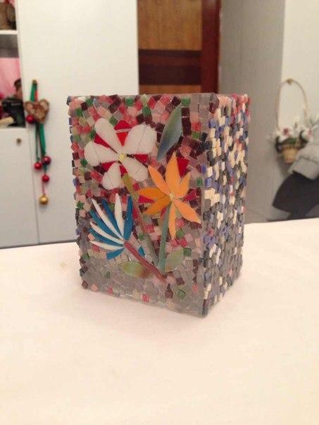 декор мозаикой, работа со стеклом