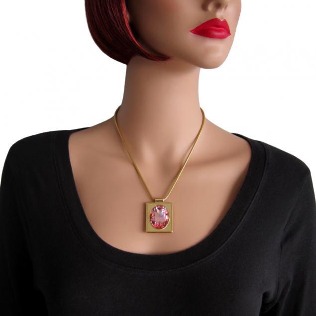 кулон, ювелирные украшения, розовый кулон, вечерние серьги, подарок девушке