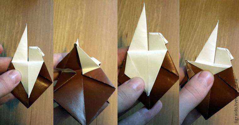 Оригами: пасхальная курочка, фото № 15
