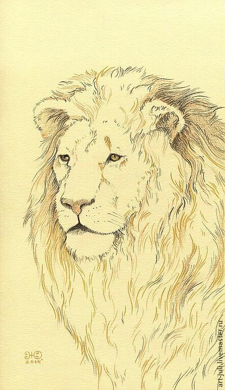 лев - величественный зверь (новые рисунки), фото № 2