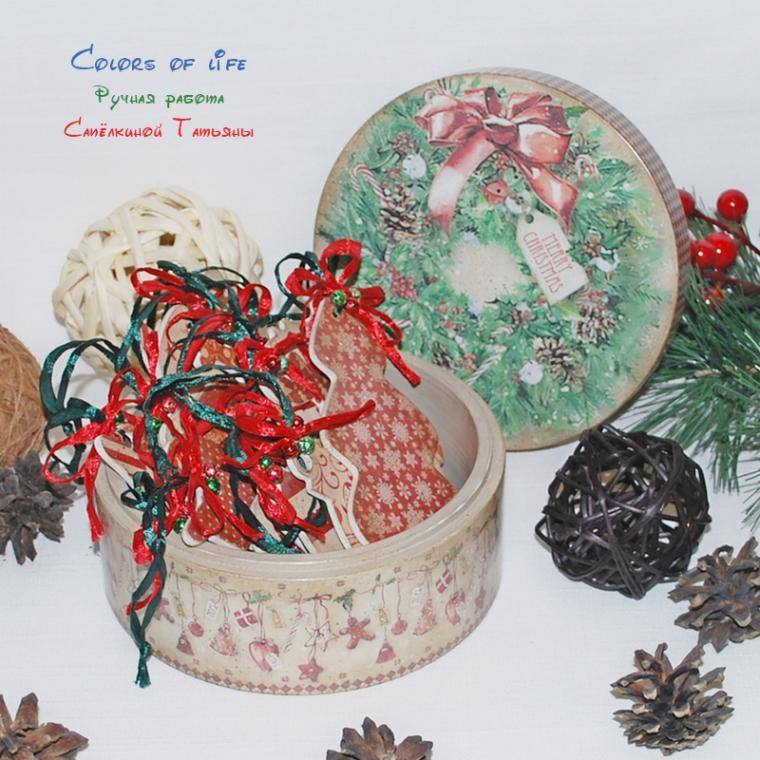 рождество 2015, украшения на елку, рождественский венок