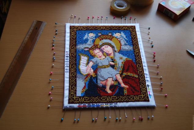 Как натянуть вышивку из бисера на рамку видео - на сайте 6797929.ru