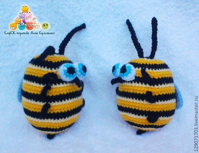 схема вязания пчелы, пчелки