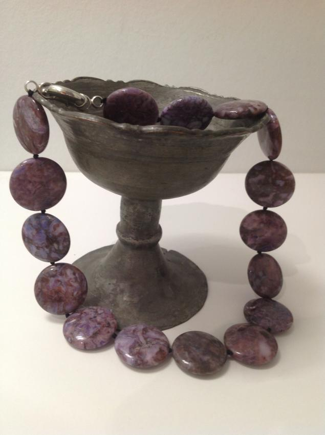 ожерелье, серьги с камнями