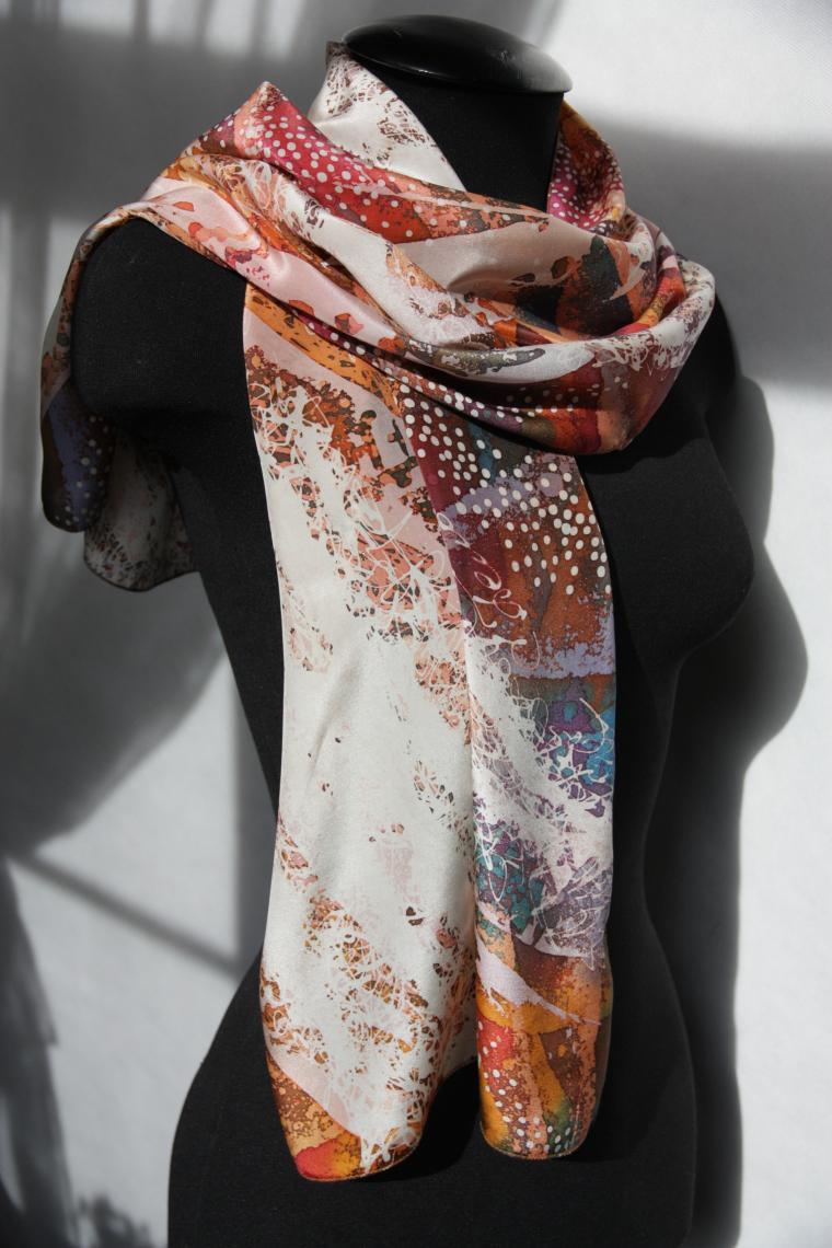 шарфы на шелке, хэнд мэйд, занятие