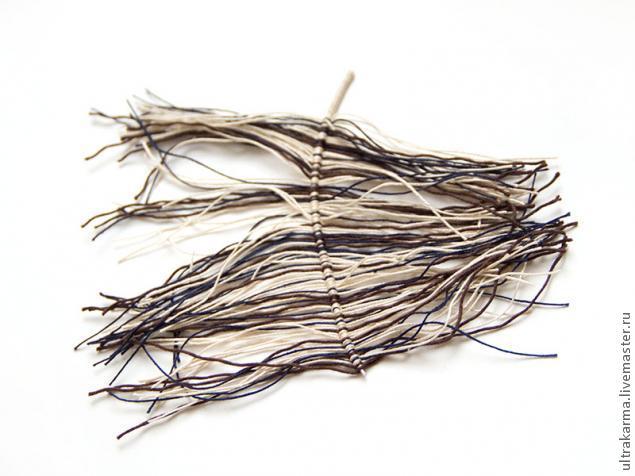 перо из ниток