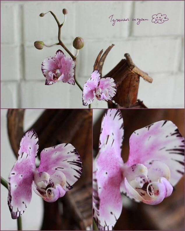 полимерная глина, лепка цветов