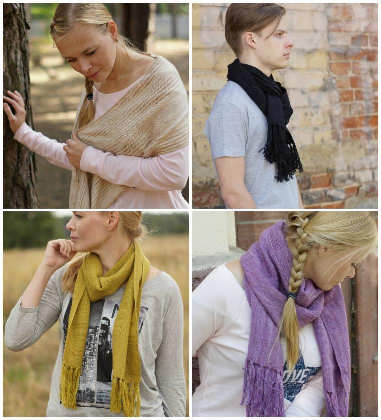 шарфы, домоткань