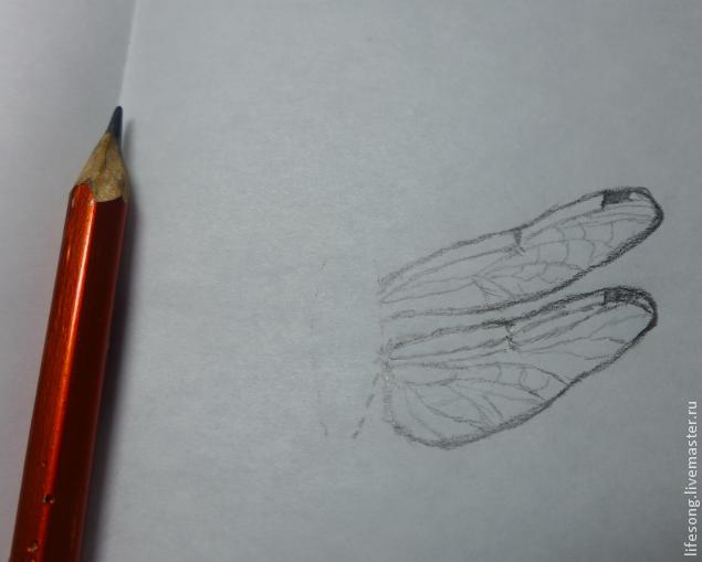 лепка стрекозы