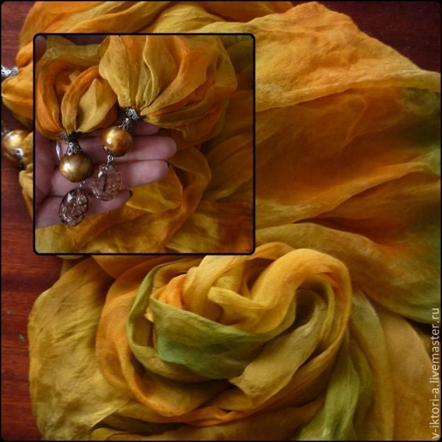 распродажа, шарфы на шелке
