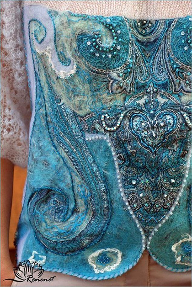 Одежда в технике валяние из шерсти