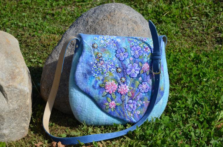 авторская валяная сумка, эко-сумка