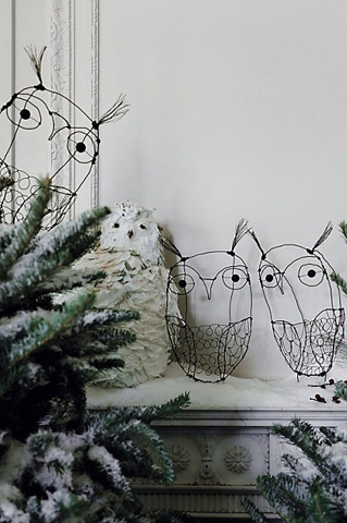 Imagine these owls popping up around the garden so cute