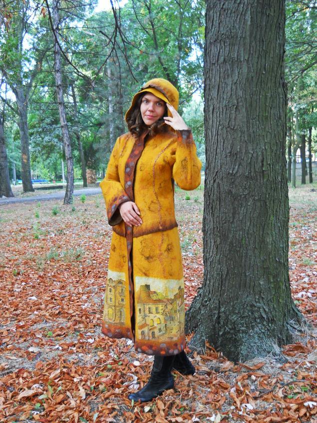 пальто валяное осеннее
