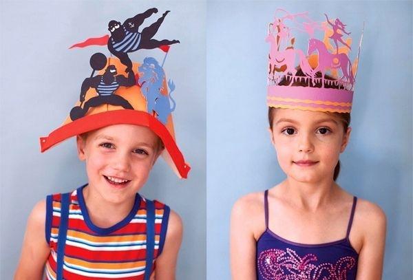 Шляпа для мальчика из бумаги своими руками