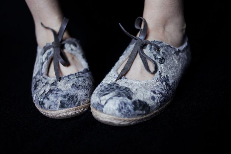 обучение валянию, летние туфли