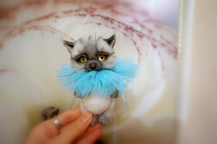 урок по валянию, как свалять котенка