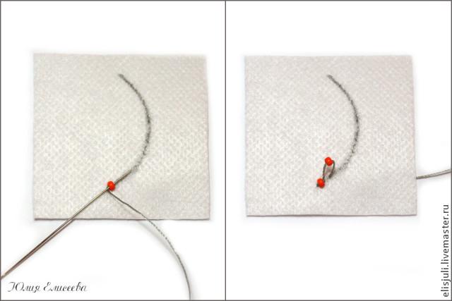Как обшивать контур вышивки