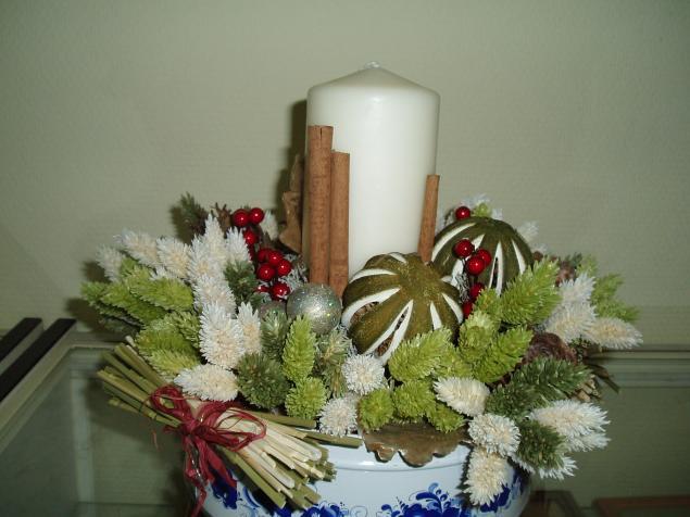 новый год, новогодний интерьер, сухоцветы