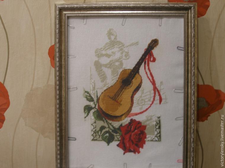 Оформление готовой вышивки в рамку, фото № 17