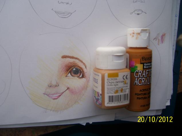 мк лицо кукле