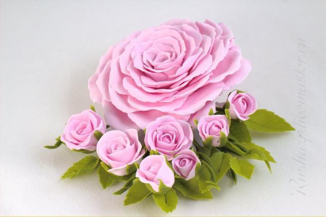 цветы ручной работы, броши, для невесты, ободок с цветами