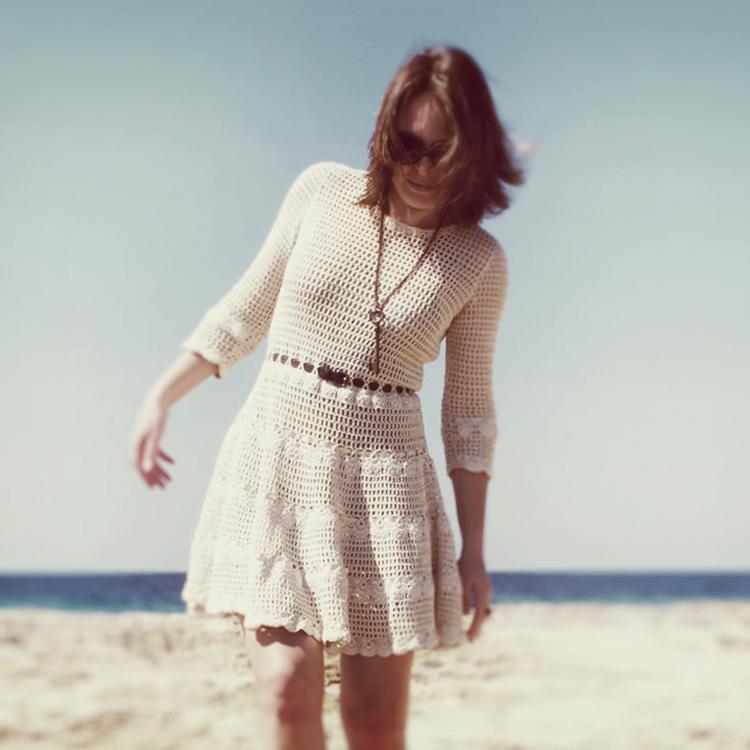 платье, вязание